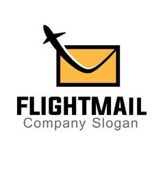 Mail Flight Design vector image