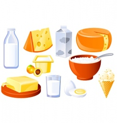 Milk and farm products vector