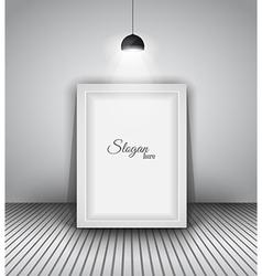 modern interior art gallery frame design vector image