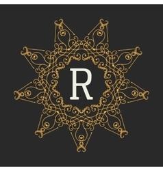 Monogram design elements template Letter Vintage vector image