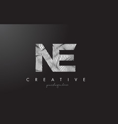 Ne n e letter logo with zebra lines texture vector