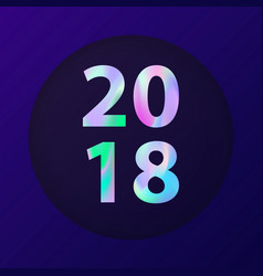 new year holographic card vector image