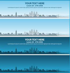 Philadelphia skyline event banner vector