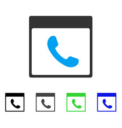 Phone calendar page flat icon vector