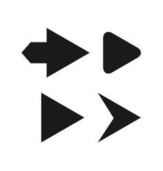 Play button template design vector