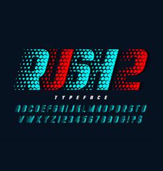 racing display font design alphabet typeface vector image