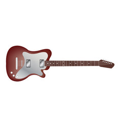 red classic electric guitar vector image