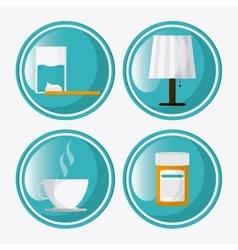 Rest icon design vector