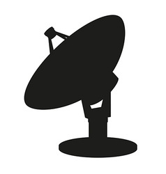 satellite dish 03 vector image