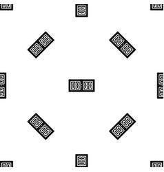 Scoreboard pattern seamless black vector