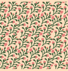 seamless floral pattern with tree branches and vector image