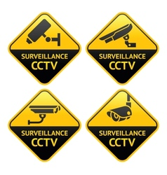 security camera pictograph video surveillance set vector image