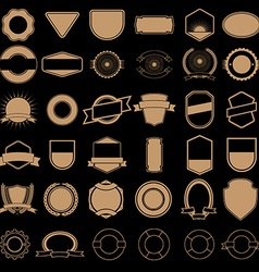 Set of labels and badges templates in gold style vector
