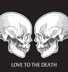 skulls object vector image