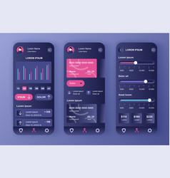 Smart banking unique neomorphic design kit vector