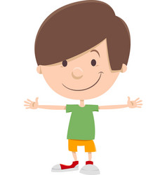 smiling kid boy cartoon character vector image