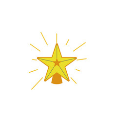 star decoration color icon element of christmas vector image