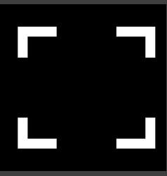 symbol full screen white color icon vector image