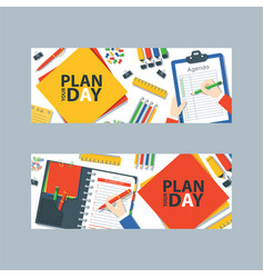 to do list or planning icon concept vector image