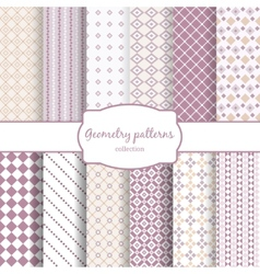 Twelve retro different seamless patterns vector image