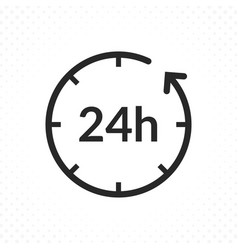 twenty-four hours icon vector image