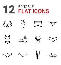 Underwear icons vector