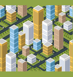 urban isometric 3d area with building vector image