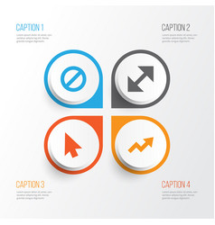 User icons set collection of forbidden change vector