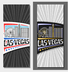 Vertical layouts for las vegas vector