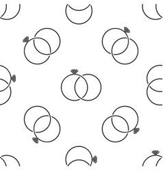 wedding rings icon isolated seamless pattern vector image