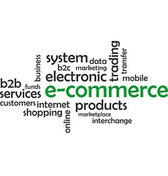 word cloud e commerce vector image
