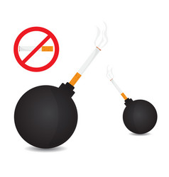 World no tobacco bomb with tobacco vector