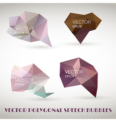 Abstract polygonal triangles speech bubbles EPS10 vector image