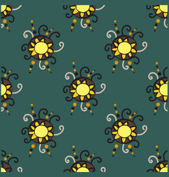abstract seamless pattern with circle elements vector image vector image