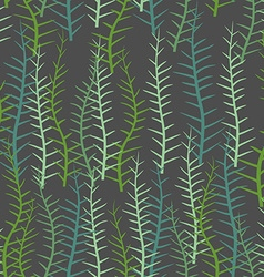 Algae seamless pattern Green long Plant into sea vector image