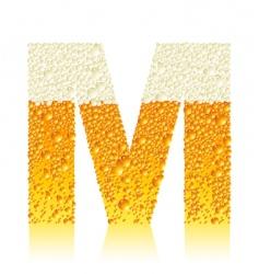 alphabet beer m vector image vector image