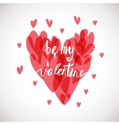Be my valentine Ink vector image vector image