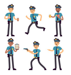 officer policeman cartoon characters vector image