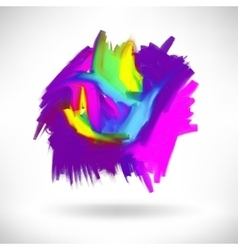 abstract acrylic painting design element vector image