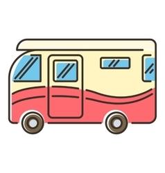 Camper van icon flat style vector image