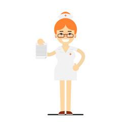 friendly young nurse in medical uniform vector image