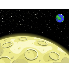 lunar moon vector image