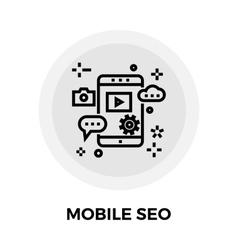 Mobile SEO Line Icon vector image vector image