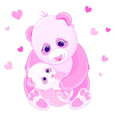 Mom and baby bears vector image vector image