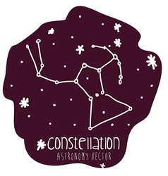 orion constelation design vector image