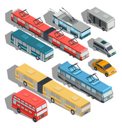 set of isometric of municipal vector image
