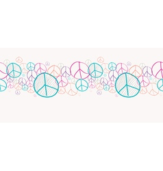 Sketch peace symbols seamless pattern background vector image