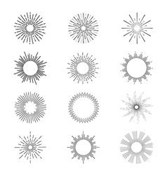 Sunbursts vector