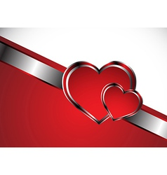Beautiful red heart background vector image vector image
