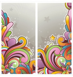 funky graphic banners vector image